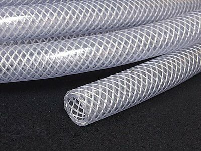 16MM PVC HOSE Clear Flexible Reinforced Braided - Food Grade OIL WATER Pipe Tube