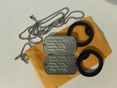 2 Personalized Dog Tags, Stainless ID Tags, Chains & Silencers, G.I. WWII VN KO