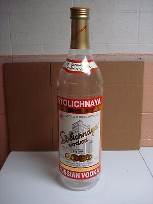 3 Foot Tall Plastic Stolichnaya Bottle Display SPI Stoli Bar Man Cave