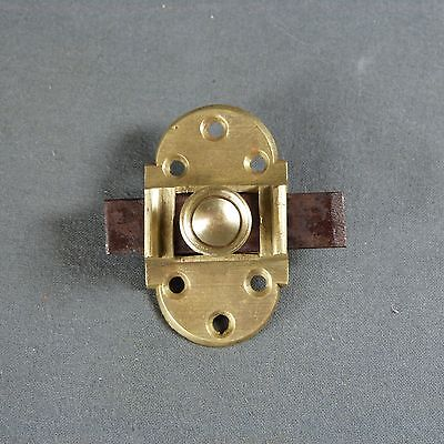Beautiful ANTIQUE FRENCH VINTAGE Brass & Iron Slide Bolt Latch Lock Door