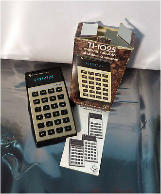 Vintage 70's Texas Instruments TI-1025 Memory Calculator, Tested!