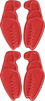 Crab Grab Mini Claws Snowboard Traction / Stomp Pads - Red - 4 Pack