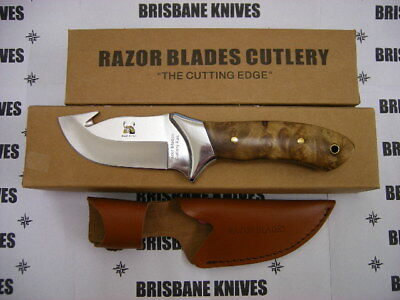 Razor Blades Red Stag Guthook Hunting Skinning Knife