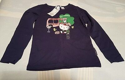 Girls Hello Kitty Top H&M New With Tags 8 Years Navy Blue Long Sleeve