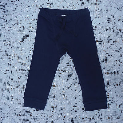 boys blue pants knit size 18-24 months Old Navy New NWT pull on