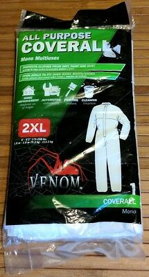 VENOM ALL PURPOSE COVERALL 2XL Protects Clothes 72L 31.5W 24Slv NEW SEALED