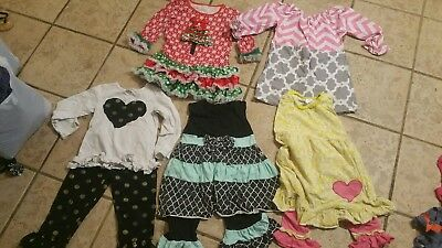 Girls Size 6-8 Tops/Outfit Lot Fall Winter Clothes Lot boutique style 9 pcs