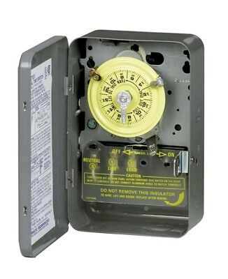 Intermatic Mechanical Time Switch T101 Timer SPST 24-Hour Dial 40 Amps 125 Volt