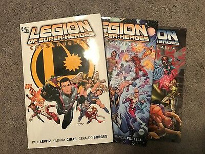 Legion of Superheroes hardcovers and tpb lot, Paul Levitz, Good to Very Good