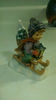 Vintage Hummel Figurine #396/ 2/0  Ride Into Christmas