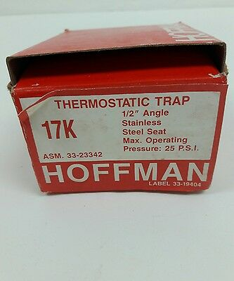 Hoffman 17K Thermostatic Steam Trap 1/2 In. Angle