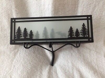 Partylite black forest friends wall sconce P9082