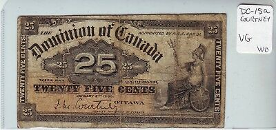 Canada VG 1900 shinplaster twenty five cents paper note 25¢ DC-15a Courtney