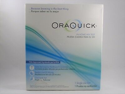 OraQuick Advanced HIV-1 Home Test Kit 1 Single Use Test NEW!!