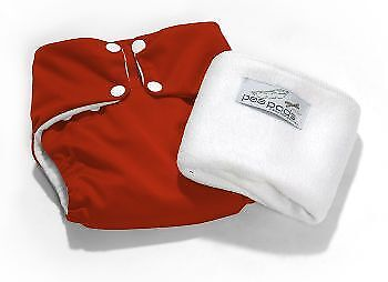 Pea Pods Nappy Onesize - Red