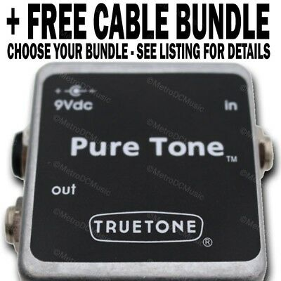 Truetone PureTone Buffer Pure Tone Pedal + FREE CABLE BUNDLE YOUR CHOICE