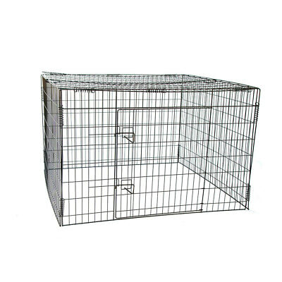 """48"""" Foldable Pet Exercise Pen with Top panel for Dog Chicken Rabbit Cat"""