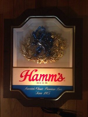 Vintage Hamm's Fighting Lion Lighted Beer Sign