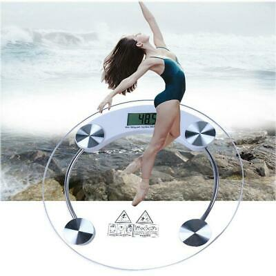 Glass Digital Electronic Scale LCD Bathroom Platform Weighing Body Scales 180kg