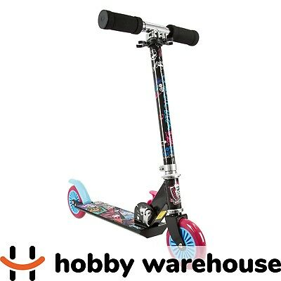 Mattel Monster High Kids Kick 2 Wheel Folding Scooter Ride on Toys