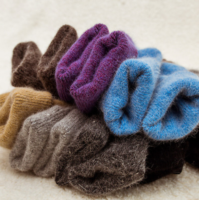 5 Pairs Womens 95% Wool Cashmere Warm Soft Thick Casual Solid Winter Socks Lot