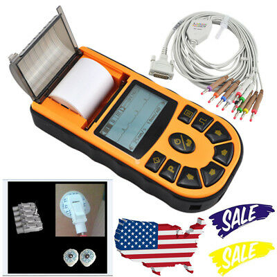 FDA ECG80A Digital 1 Channel 12 lead ECG EKG Machine Electrocardiograph Software