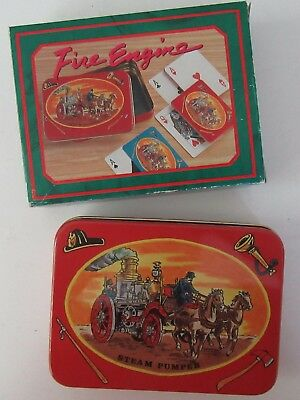 Fire Engine Playing Cards - 2 Packs and Decorative Tin