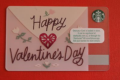 STARBUCKS - Happy Valentines Gift Card - (AUSTRALIA EDITION)