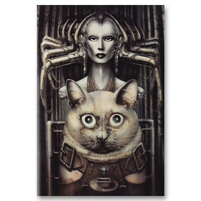 HR Giger Li Artwork Abstract Canvas Poster Art Prints 8x12 24x36 inches 002