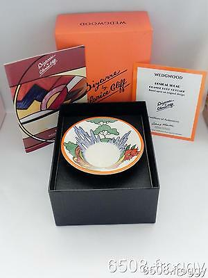 W//WOOD **CLARICE CLIFF** Conical Bowl - *ORANGE ROOF COTTAGE* - Mint!