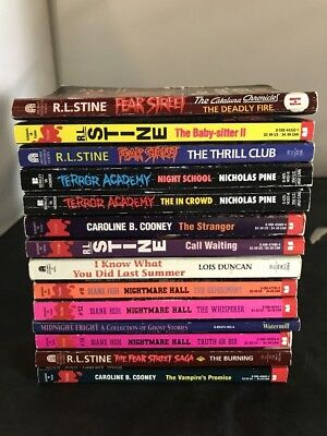 Lot Of R.l. Stein Diane Hoh Caroline Cooney Pb Books 14 Total Fear Nightmare