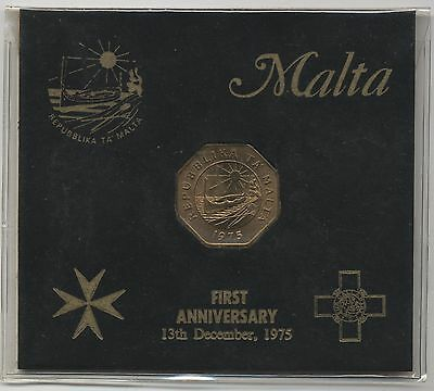 1975 Malta 25 Cent Coin Pack***Collectors***