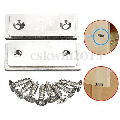 2pc Door Furniture Cabinet Catch Latch Ultra Thin Cupboard Glass Strong Magnetic