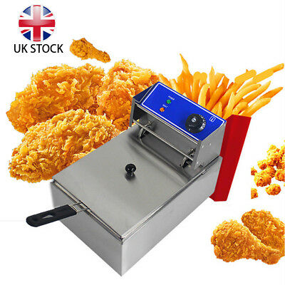 10L Electric Deep Fat Fryer Stainless Steel Commercial Single Tank Chip Safety