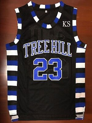 One Tree Hill Nathan Scott #23 Ravens Black Basketball Jersey Black