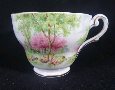 Vintage Royal Standard Springs Gift Tree scene Fine Bone China Tea cup England