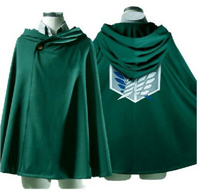 Attack on Titan Halloween Cosplay Anime Shingeki no Kyojin Cloak Cape Clothes US