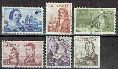 AUSTRALIA 1966, Complete Set EXPLORERS to $4, Light used, Good CV,  4573