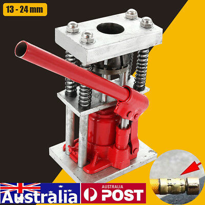 AU 2 Tons Manual Benchtop Hydraulic Hose Crimper Hydraulic Bottle Jack Hose NEW