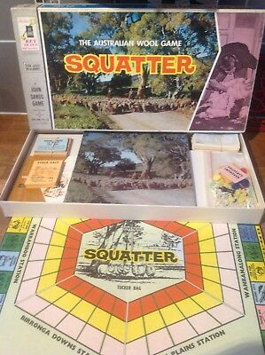 SQUATTER - The Australian Wool Board Game -  100% complete - Excellent Condition