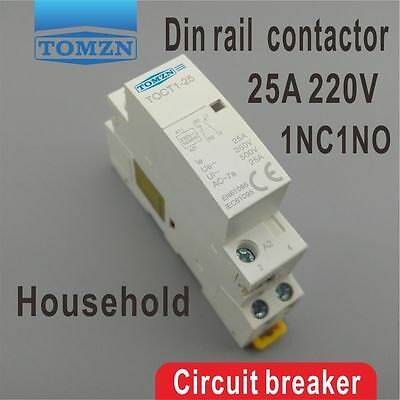 TOCT1 CT1 2P 25A 1NC 1NO 220V/230V 50/60HZ Din rail Household ac contactor
