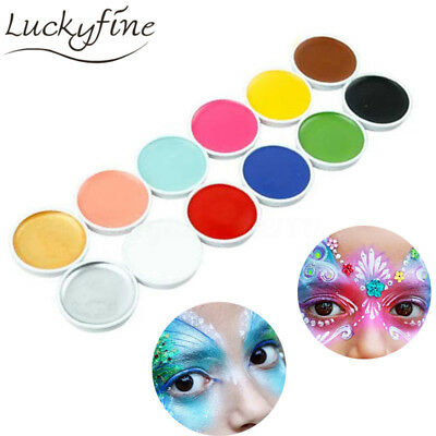 Global Body Art Face & Body Paint Kit 12 Color - Costume Cosplay Party Halloween