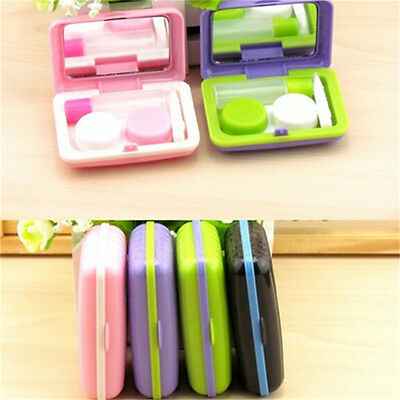 Portable Mini Contact Lenses Case Box Trunk Shape Eyewear Cases Lens Care Box KK