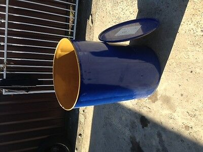 Fire drum fire pit 205 litre or 44 drum open top with vent holes & lid.