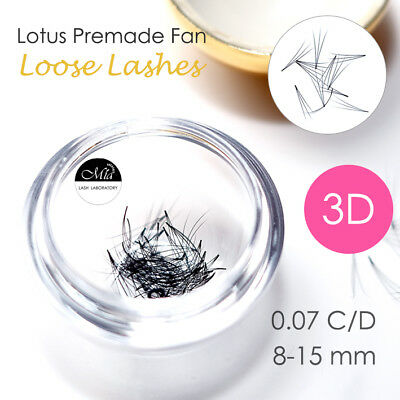 Lotus 0.07 3D Pre-made Fan Lash 80 Pre-fans Semi Permanent Eyelash Extension