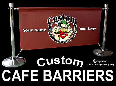 Cafe Barriers Banner And Free Design Service Included Cheapest On The Web