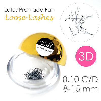 Lotus 0.10 3D Pre-made Fan Lash 80 Pre-fans Semi Permanent Eyelash Extension