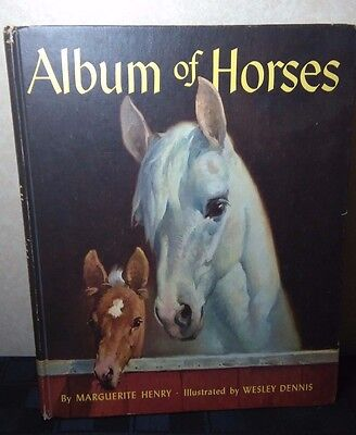 Album of Horses by Marguerite Henry Hardcover Book  1964 Edition