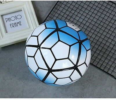 football Soccer Ball New Edition blue colours Outdoor PU size 5 / 1pc