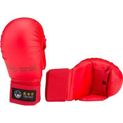 NEW Tokaido Karate Sparring Mitt RED - Gloves Judo Taekwondo Martial Arts WKF